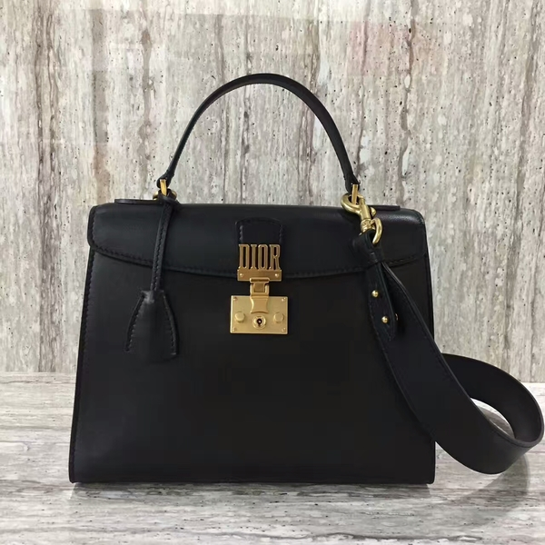 Dior Sheepskin Leather Tote Bag 17727 Black
