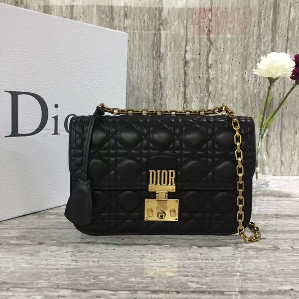 MISS Dior Sheepskin Leather Shoulder Bag 17727 Black