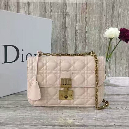 MISS Dior Sheepskin Leather Shoulder Bag 17727 Light Pink