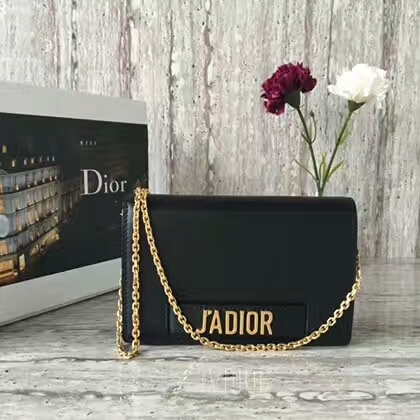 Dior JADIOR ON CHAIN Shoulder Bag S0105 Black