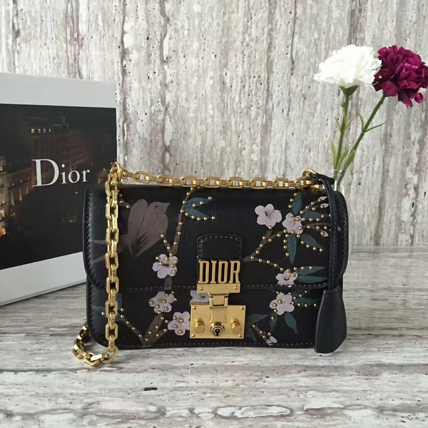 Dior Calfskin Leather Shoulder Bag A05586 Black
