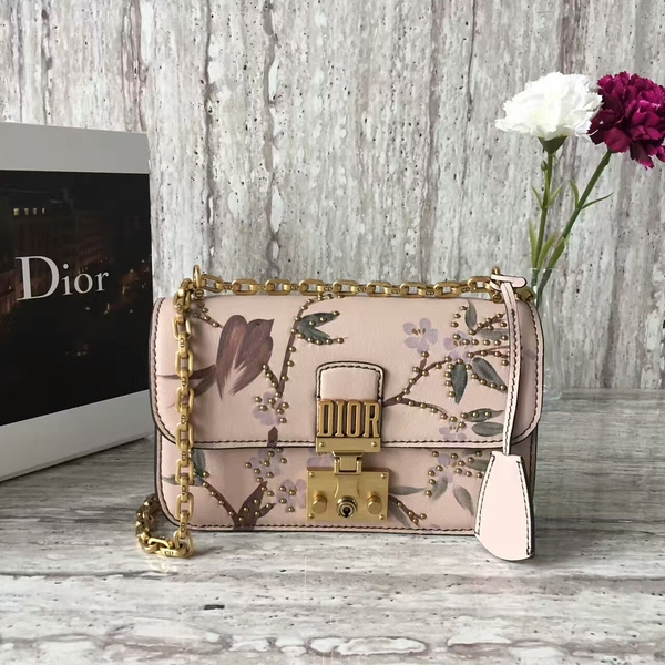 Dior Calfskin Leather Shoulder Bag A05586 Light Pink