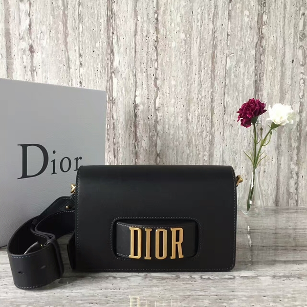 Dior Calfskin Leather Shoulder Bag A05588 Black