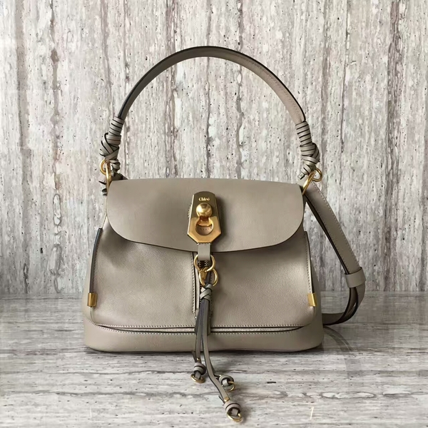 Chloe Calfskin Leather Top Handle Bag A03373 Grey