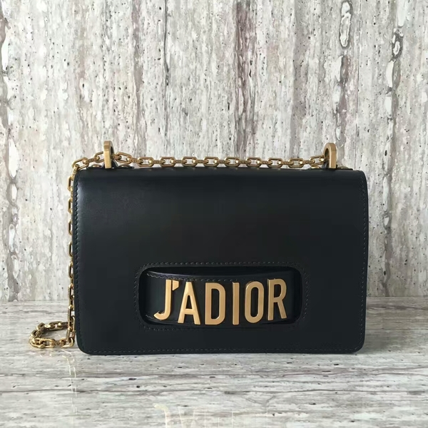 Dior JAdior Shoulder Bag Calfskin Leather M9000 Black