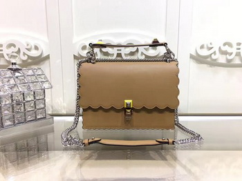 Fendi KAN I Leather Bag FD3671 Apricot