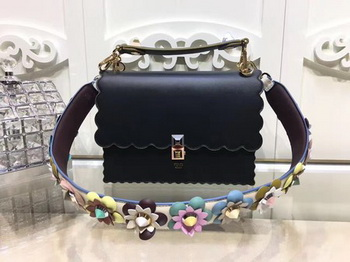 Fendi KAN I Leather Bag FD3671 Black