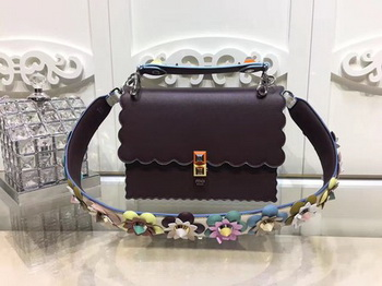 Fendi KAN I Leather Bag FD3671 Wine