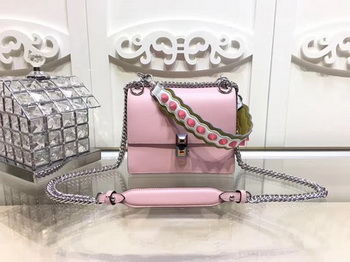 Fendi KAN I SMALL Leather mini Bag FD3698 Pink