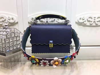 Fendi KAN I SMALL Leather mini Bag FD3698 Royal