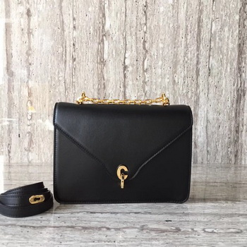 Dior C EST DIOR Flap Bag Smooth Calfskin CD0653 Black
