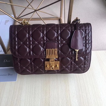 Dior DIORADDICT Flap Bag Calfskin M5818 Purple
