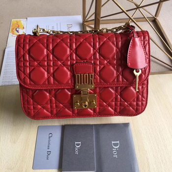 Dior DIORADDICT Flap Bag Calfskin M5818 Red