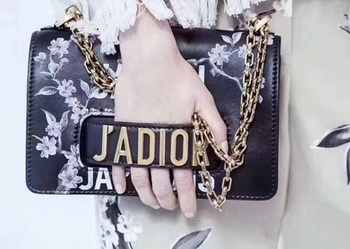 Dior JADIOR Flap Bag Calfskin A9000 Black