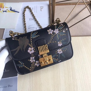 Dior JADIOR Flap Bag Calfskin M5817 Black