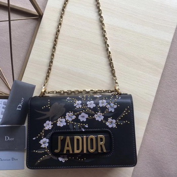 Dior JADIOR Flap Bag Calfskin M9000 Black