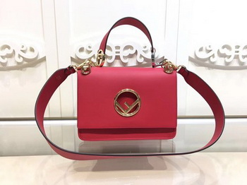 Fendi KAN I Leather Bag FD2670 Red
