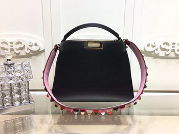 Fendi Peekaboo Bags Original Leather F3659 Black