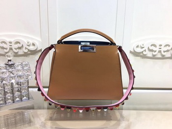 Fendi Peekaboo Bags Original Leather F3659 Brown