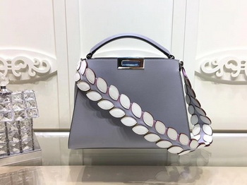 Fendi Peekaboo Bags Original Leather F3659 Grey