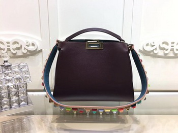 Fendi Peekaboo Bags Original Leather F3659 Wine