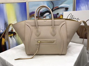 Celine Luggage Phantom Tote Bag Calfskin Leather CT3372 Apricot&Yellow