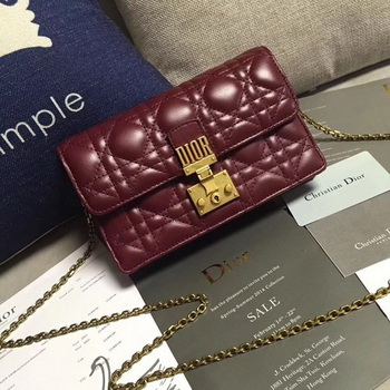 Dior DIORADDICT Wallet on Chain CD7056 Wine