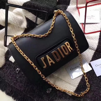 Dior JADIOR Flap Bag Calfskin CD9002 Black