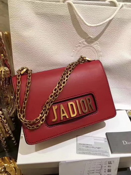 Dior JADIOR Flap Bag Calfskin CD9002 Red