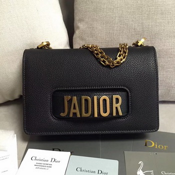 Dior JADIOR Flap Bag Calfskin M9003 Black