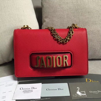 Dior JADIOR Flap Bag Calfskin M9003 Red