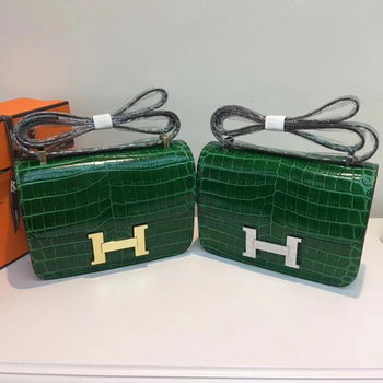 Hermes Constance Bag Croco Leather H9978C Green