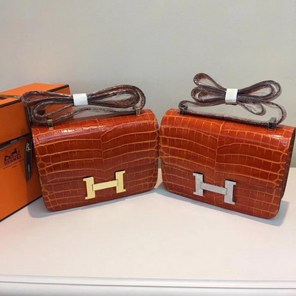 Hermes Constance Bag Croco Leather H9978C Orange