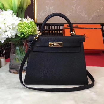 Hermes Kelly 32cm Shoulder Bag TOGO Leather KY32 Black