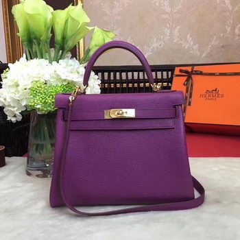 Hermes Kelly 32cm Shoulder Bag TOGO Leather KY32 Purple
