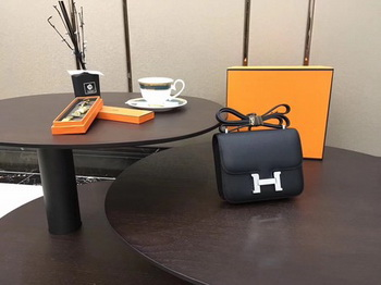 Hermes Constance Bag Original Calfskin Leather H9910 Black
