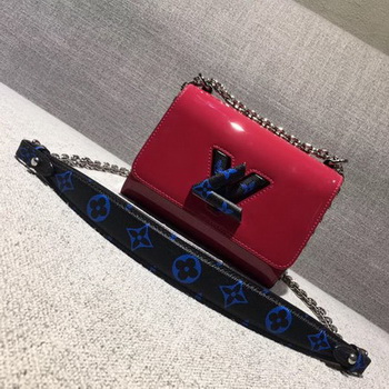 Louis Vuitton Smooth Patent TWIST PM M54241 Red&Blue