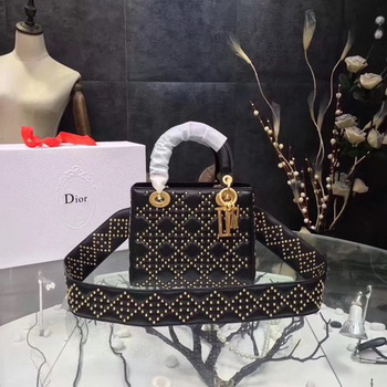 Dior mini Lady Dior Bag Original Sheeepskin Leather CD3891 Black