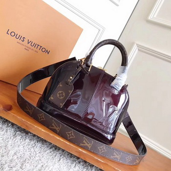 Louis Vuitton Monogram Vernis ALMA BB M54704 Brown