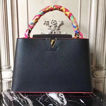 Louis Vuitton Elegant Capucines Bags MM M41813 Black