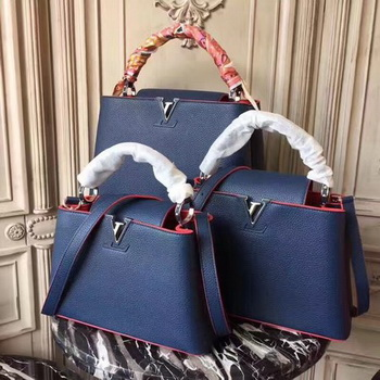 Louis Vuitton Original Leather CAPUCINES BB M54419 Blue