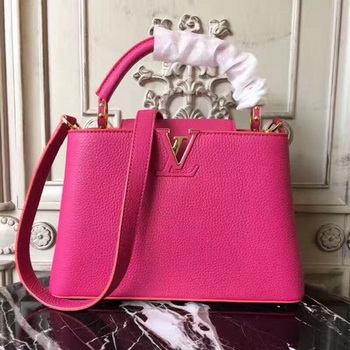 Louis Vuitton Original Leather CAPUCINES BB M54419 Rose