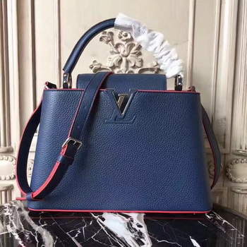 Louis Vuitton Original Leather CAPUCINES PM M42450 Blue