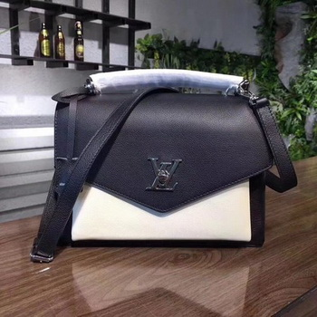Louis Vuitton Soft Calfskin MY LOCKME M54849 Black&OffWhite