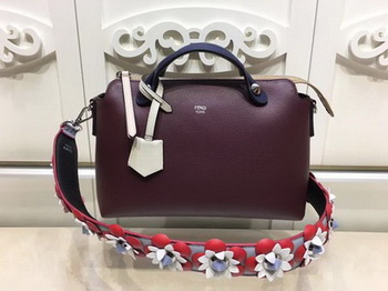 Fendi BY THE WAY Bag Original Calfskin Leather F21790 Wine