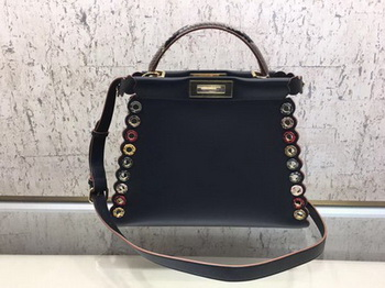 Fendi Peekaboo Small Bag Calfskin Leather 8BN245 Black