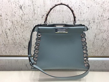 Fendi Peekaboo Small Bag Calfskin Leather 8BN245 SkyBlue