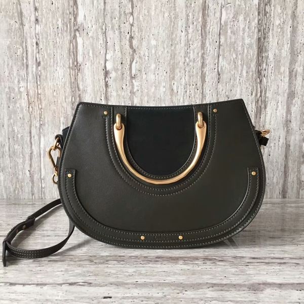 Chloe Calfskin Leather Tote Bag A03377 Black