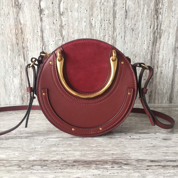 Chloe Calfskin Leather Tote Bag A03376 Red