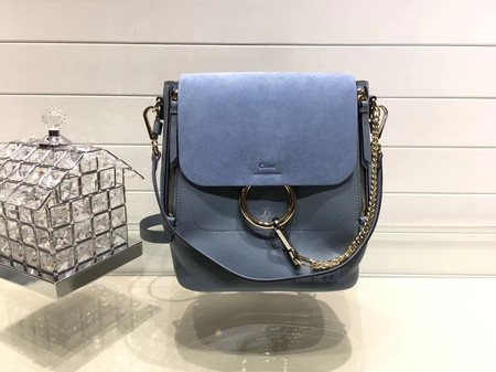Chloe Faye Calfskin Leather Backpack 4756 Blue